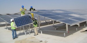Solar Panel Modules Set Up Projects On